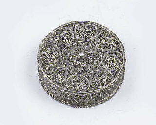 A fine dutch silver filigree s