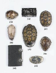A Dutch silver-mounted cowry s