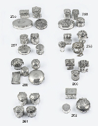 A dutch silver snuff-box, two