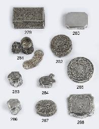 A rare dutch silver scent-box