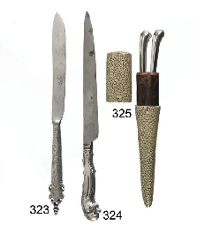 A fine steel and silver knife