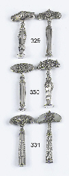Two dutch silver corkscrews