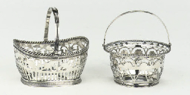 A Dutch silver sewing basket a