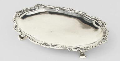 A small Dutch silver salver