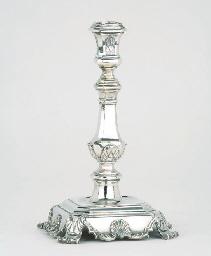 A Dutch silver candlestick