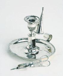 A fine dutch silver chambersti