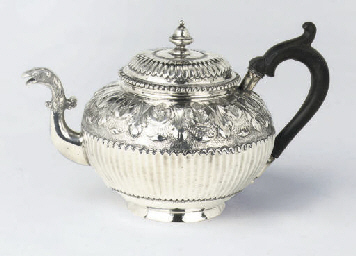 A Dutch silver teapot