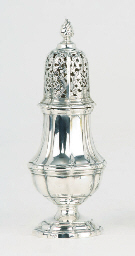 A fine dutch silver sugar-cast