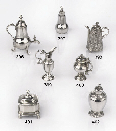 A Dutch silver miniature wine-