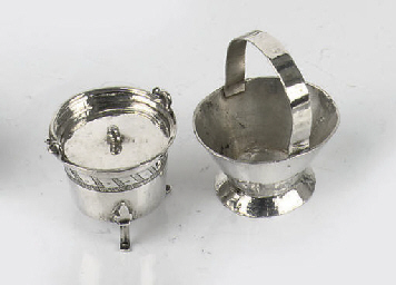 A dutch silver miniature bucke
