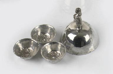 Three dutch silver miniature t