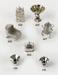 A Dutch silver miniature cradl