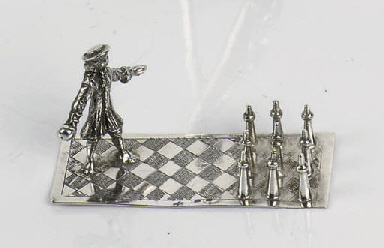 A Dutch silver miniature toy
