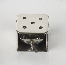 A Dutch silver miniature stove