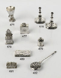 A Dutch silver miniature tea-c