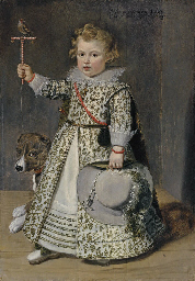 Portrait of boy aged two, full