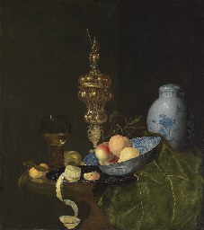 Still life with a roemer, a si