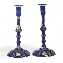 A pair of Staffordshire enamel