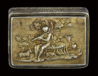 A George III silver-gilt vinai