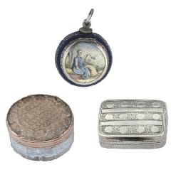 A silver Viennese enamel vinai