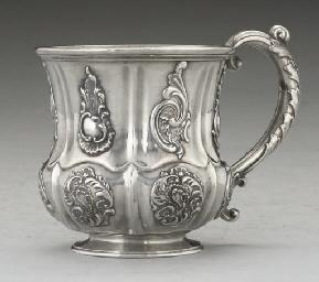 A Russian silver mug