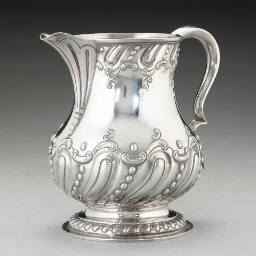 A LATE VICTORIAN SILVER BEER J