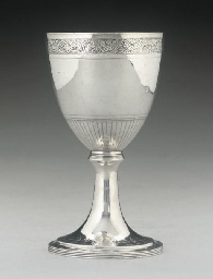 A GEORGE III SILVER GOBLET,