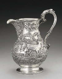 A LARGE GEORGE IV SILVER BEER