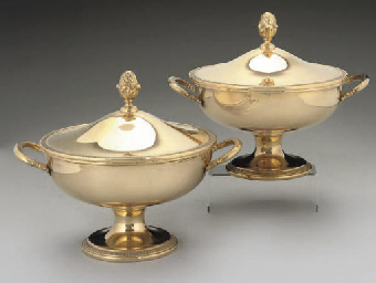 A PAIR OF ITALIAN TWO-HANDLED