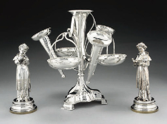 AN ELECTROPLATED EPERGNE,