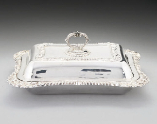 A GEORGE III-STYLE SILVER ENTR