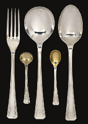 A SILVER PART TABLE SERVICE OF