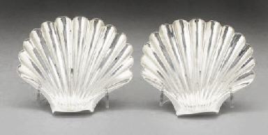 A PAIR OF GEORGE III SILVER BU