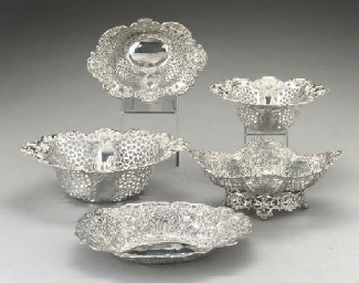 A  set of three Edwardian silv
