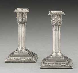 A PAIR OF EDWARDIAN SILVER DWA