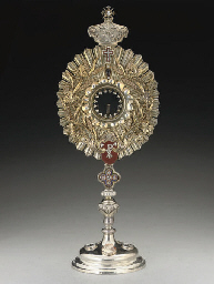 A VICTORIAN SILVER-GILT AND GE