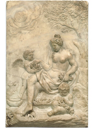 A WHITE MARBLE BAS-RELIEF TABL