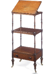 A REGENCY MAHOGANY THREE-TIER
