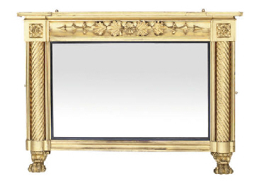 A WILLIAM IV GILTWOOD OVERMANT