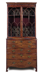 A GEORGE III MAHOGANY SECREAIR