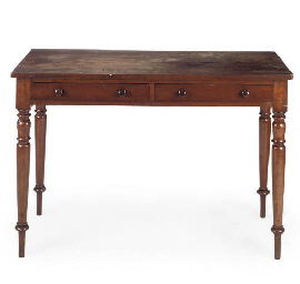 A REGENCY MAHOGANY SIDE TABLE