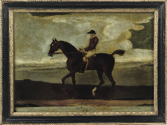 A GEORGE II MEZZOTINT-UNDER-GL