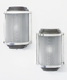 A PAIR OF ART DECO WALL LIGHTS