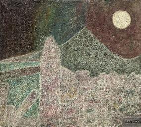 Standing stone, Zennor; Volcan