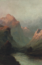 Evening, a valley in Argyll