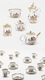 A MEISSEN CHINOISERIE PART TEA