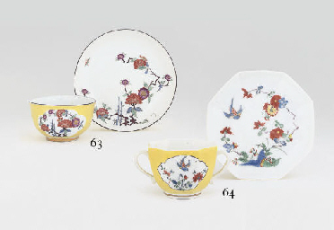 A MEISSEN YELLOW-GROUND KAKIEM