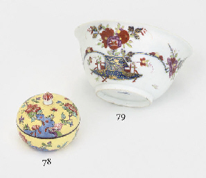 A MEISSEN YELLOW-GROUND CIRCUL