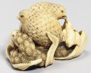 A Japanese ivory okimono netsu