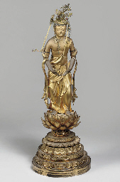 A Japanese gilt wood model of